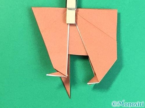 折り紙で立体的な犬の折り方手順41
