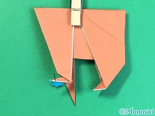 折り紙で立体的な犬の折り方手順42