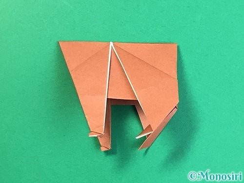 折り紙で立体的な犬の折り方手順47