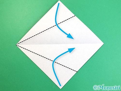 折り紙で立体的な犬の折り方手順50