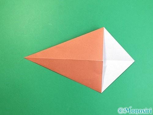 折り紙で立体的な犬の折り方手順51