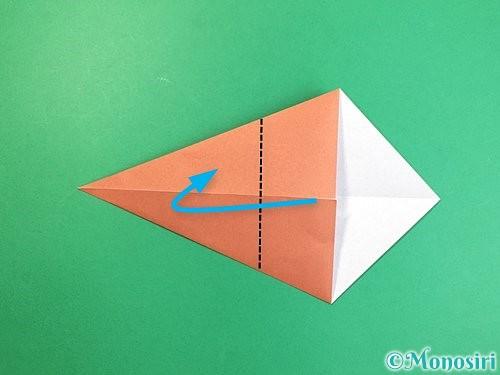 折り紙で立体的な犬の折り方手順52