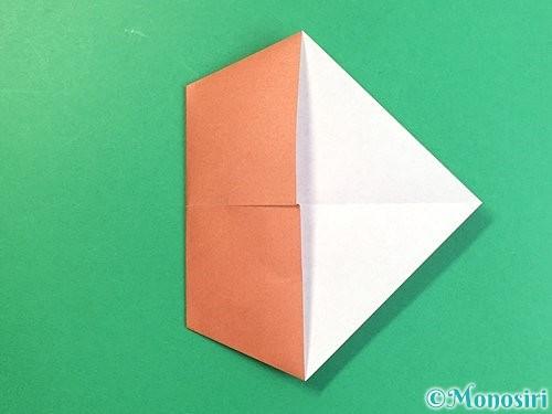 折り紙で立体的な犬の折り方手順54