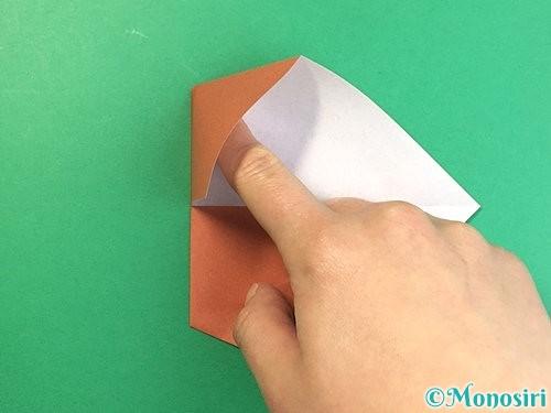 折り紙で立体的な犬の折り方手順55