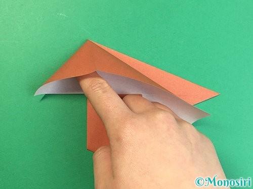 折り紙で立体的な犬の折り方手順56