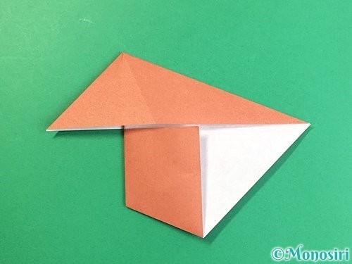 折り紙で立体的な犬の折り方手順57
