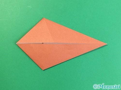 折り紙で立体的な犬の折り方手順58