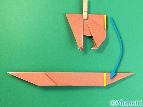 折り紙で立体的な犬の折り方手順65
