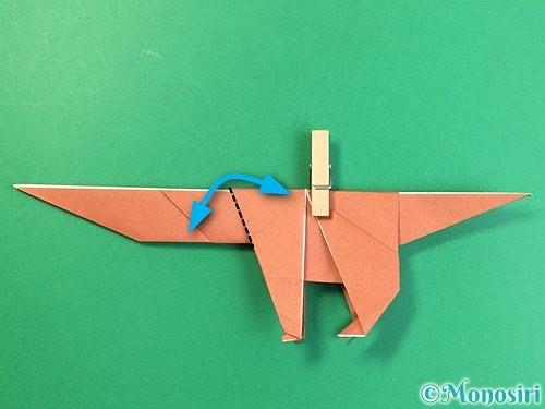 折り紙で立体的な犬の折り方手順68