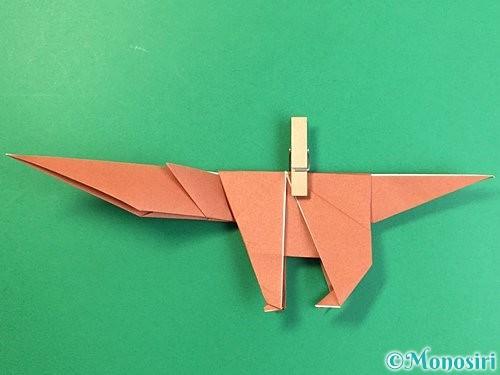 折り紙で立体的な犬の折り方手順69