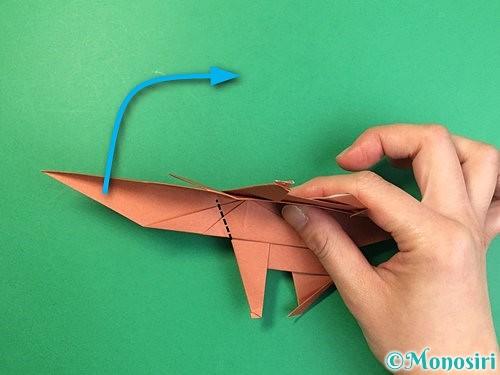 折り紙で立体的な犬の折り方手順71