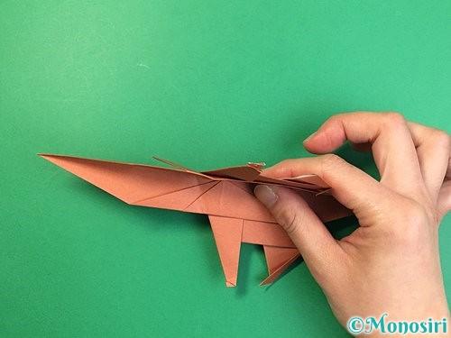 折り紙で立体的な犬の折り方手順70