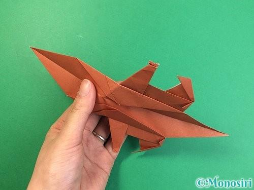 折り紙で立体的な犬の折り方手順72