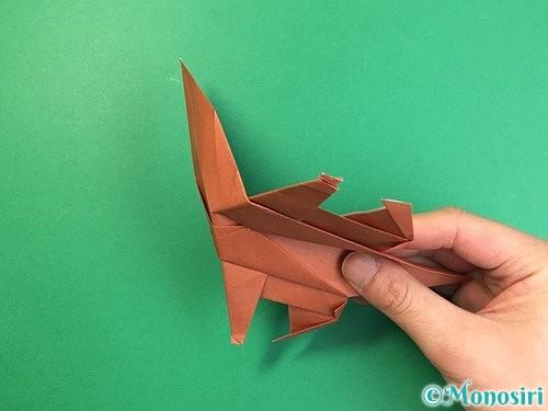 折り紙で立体的な犬の折り方手順73