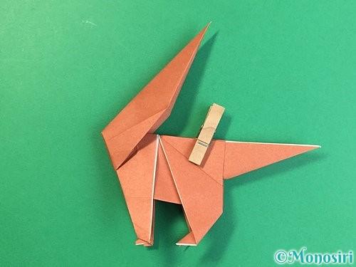 折り紙で立体的な犬の折り方手順75