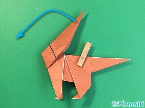 折り紙で立体的な犬の折り方手順76