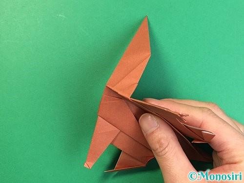 折り紙で立体的な犬の折り方手順77
