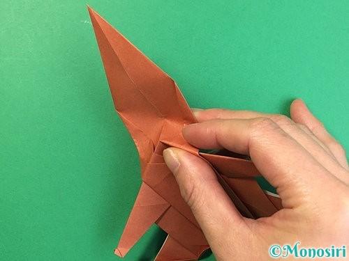 折り紙で立体的な犬の折り方手順78