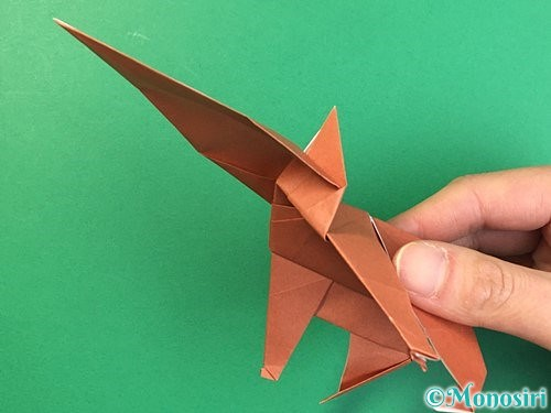 折り紙で立体的な犬の折り方手順79