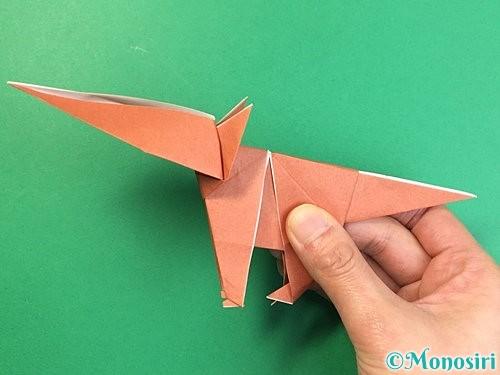 折り紙で立体的な犬の折り方手順80