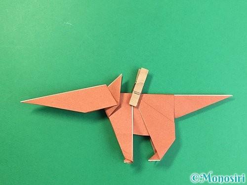 折り紙で立体的な犬の折り方手順81