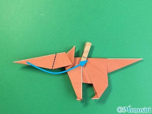 折り紙で立体的な犬の折り方手順82
