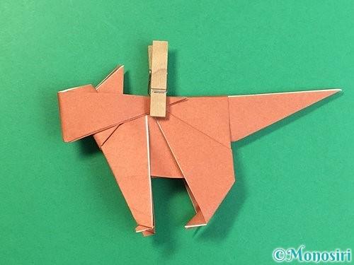 折り紙で立体的な犬の折り方手順83