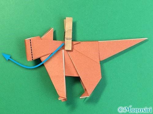 折り紙で立体的な犬の折り方手順84