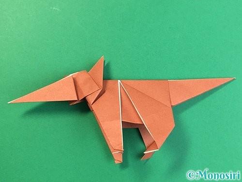 折り紙で立体的な犬の折り方手順85