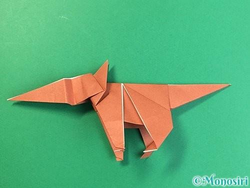 折り紙で立体的な犬の折り方手順86