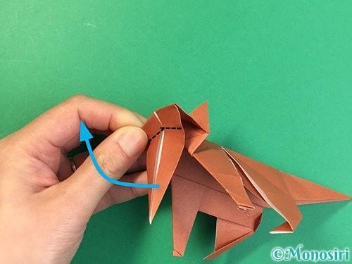 折り紙で立体的な犬の折り方手順89