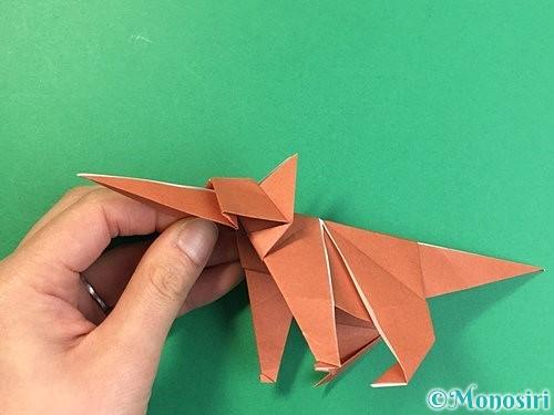 折り紙で立体的な犬の折り方手順90
