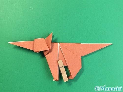 折り紙で立体的な犬の折り方手順91