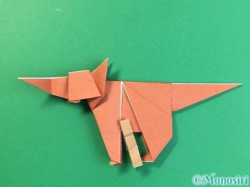 折り紙で立体的な犬の折り方手順93
