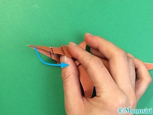 折り紙で立体的な犬の折り方手順94