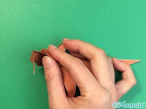 折り紙で立体的な犬の折り方手順95