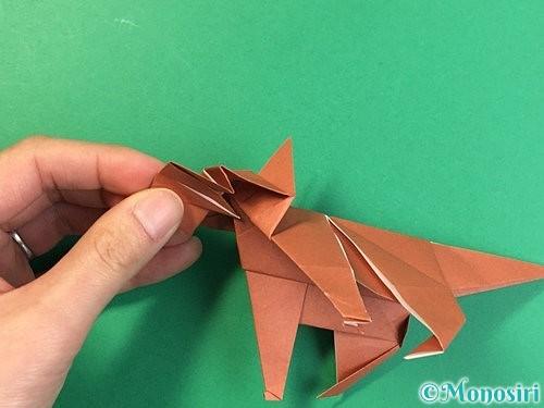 折り紙で立体的な犬の折り方手順96