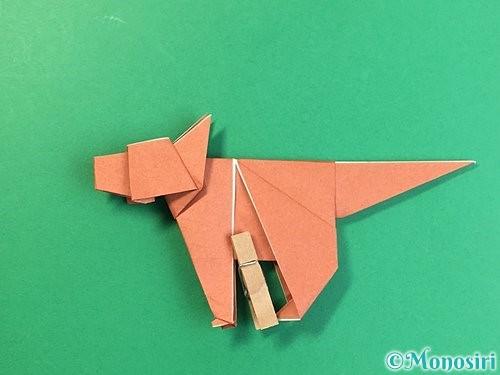 折り紙で立体的な犬の折り方手順97