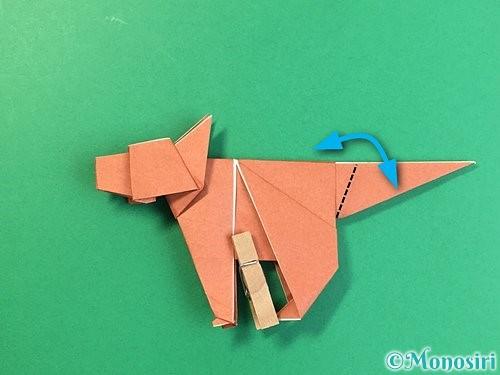折り紙で立体的な犬の折り方手順98
