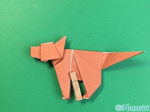 折り紙で立体的な犬の折り方手順99
