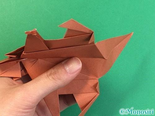 折り紙で立体的な犬の折り方手順101