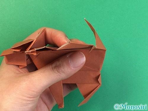 折り紙で立体的な犬の折り方手順102