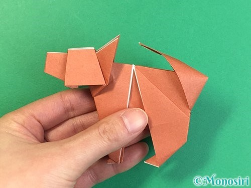 折り紙で立体的な犬の折り方手順103