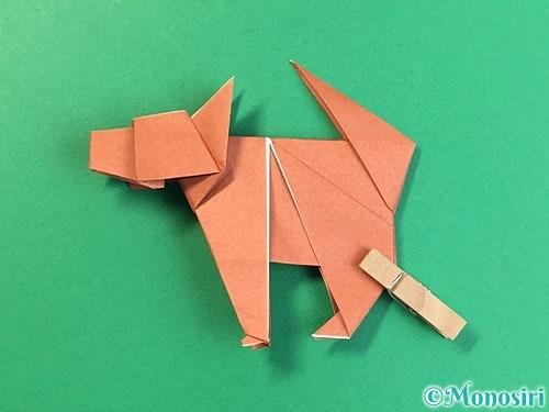 折り紙で立体的な犬の折り方手順104