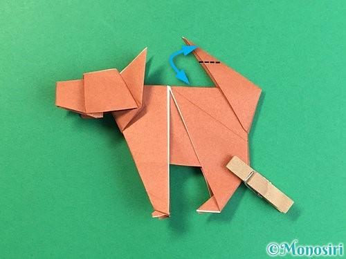 折り紙で立体的な犬の折り方手順105