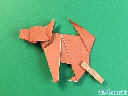 折り紙で立体的な犬の折り方手順106