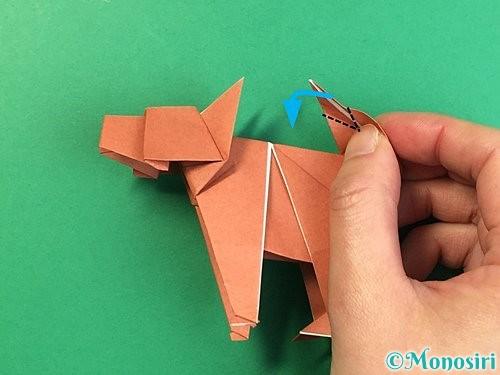 折り紙で立体的な犬の折り方手順107