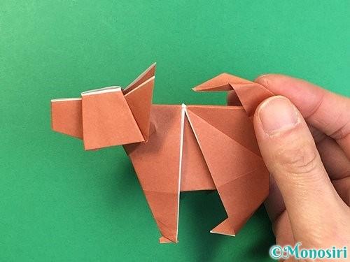 折り紙で立体的な犬の折り方手順108