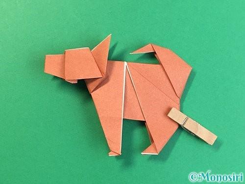 折り紙で立体的な犬の折り方手順109
