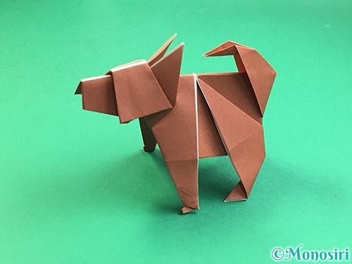 折り紙で立体的な犬の折り方手順110